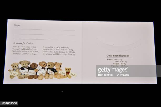 The inside of the pink for baby girls Silver Penny card produced by the Royal Mint to coincide with the brith of the royal baby PRESS ASSOCIATION...