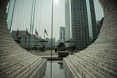 The inside section of Zhu Jinshi's 'Boat' Installation art is seen at The Rotunda Exchange Square on March 9 2015 in Central Hong Kong The public...