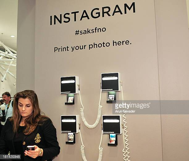 The Instagram book on display for Fashion's Night Out at Saks Fifth Avenue on September 6 2012 in New York City
