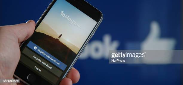 The Instagram photo and vidoe sharing app is seen on various devices on 10 May 2017 The Facebook owned company recently announced that users can also...