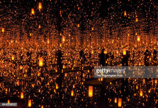 The installation 'Infinity Mirrored RoomAftermath of Obliteration of Eternity' as the Hirshhorn museum trains staff and volunteers on crowd issues...
