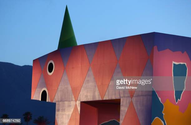 The installation 'is this what brings things into focus' is seen on day 2 of the 2017 Coachella Valley Music Arts Festival Weekend 1 at the Empire...