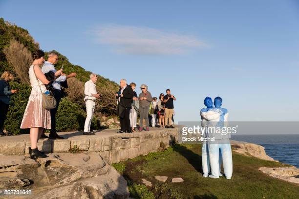 The installation 'Under One Sky' by Stephan Marr at Sculpture By The Sea at Bondi Beach on October 18 2017 in Sydney Australia