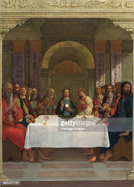 The Institution of the Eucharist c14901495 Found in the collection of the National Gallery London