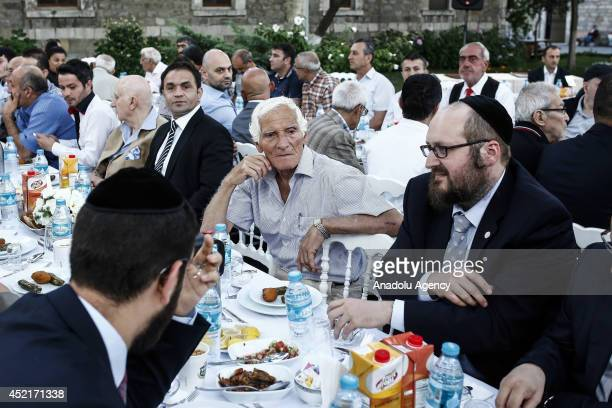 The institution of the Hakham Bashi Turkish Jewish Community holds a iftar dinner at Darulaceze Institute on July 14 2014 in Istanbul Turkey