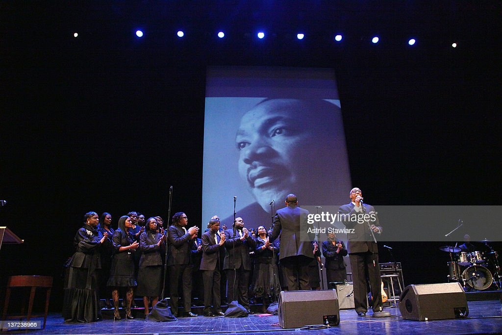 The Institutional Radio Choir performs during the 6th annual Brooklyn Tribute to Dr Martin Luther King Jr at the BAM Howard Gilman Opera House on...