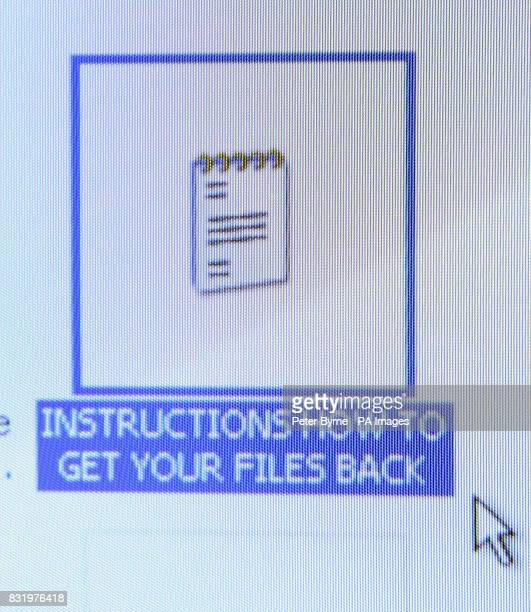 The instructions file Nurse Helen Barrow of Littleborough Lancashire found on her desktop after becoming the first known UK victim to be held to...
