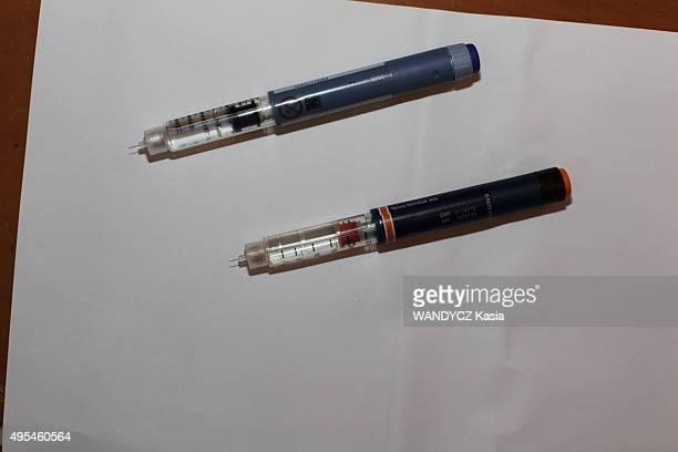 the Insulin pens of Diabetics on september 29 2015 in France