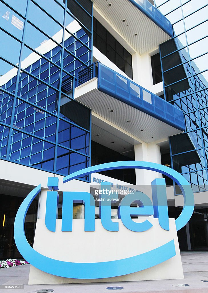 The Intel logo is displayed outside of an Intel office August 19, 2010 in Santa Clara, California. Intel announed today that it plans to buy security software maker McAfee for a reported $7.68 billion.