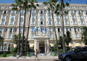 The InterContinental Hotels Group Plc Carlton Hotel stands in Cannes France on Wednesday June 23 2010 InterContinental Hotels Group Plc the UKbased...