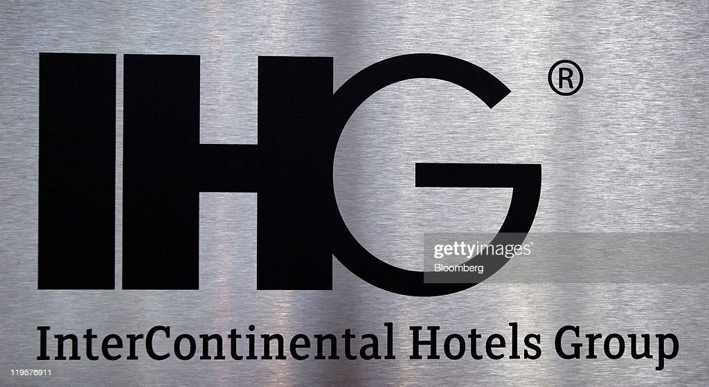 The Intercontinental Hotels Group Plc Ihg Company Logo Sits On Display At S