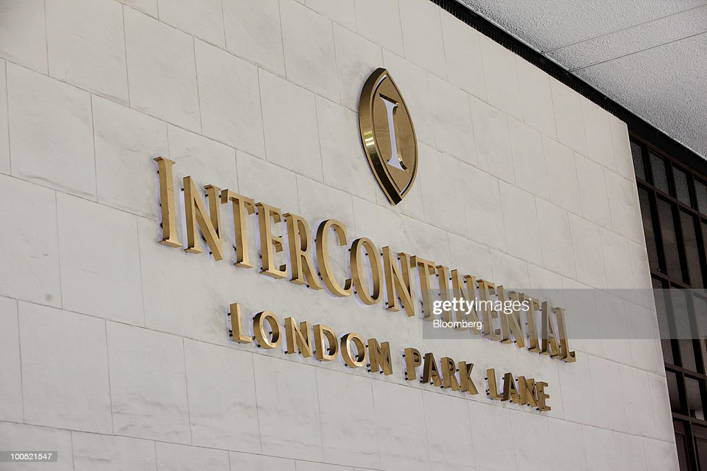 The Intercontinental Hotels Group Plc Logo Is Displayed At Hotel In London U K