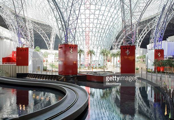 The interior exhibition space is seen at Ferrari World Abu Dhabi Ferrari's first theme park is seen in Abu Dhabi United Arab Emirates on Tuesday Oct...