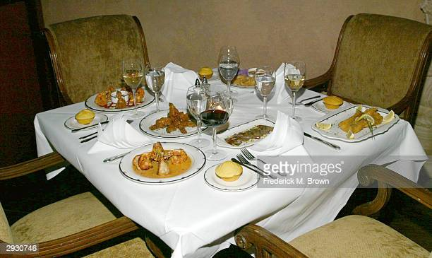 The interior is seen during the grand opening of Katherine's Southern Dinner House on February 4 2004 in Los Angeles California