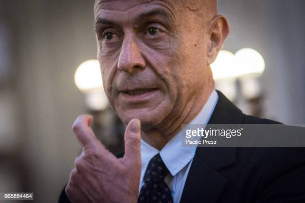 The Interior Minister Marco Minniti during the official visit to Synagogue of Rome