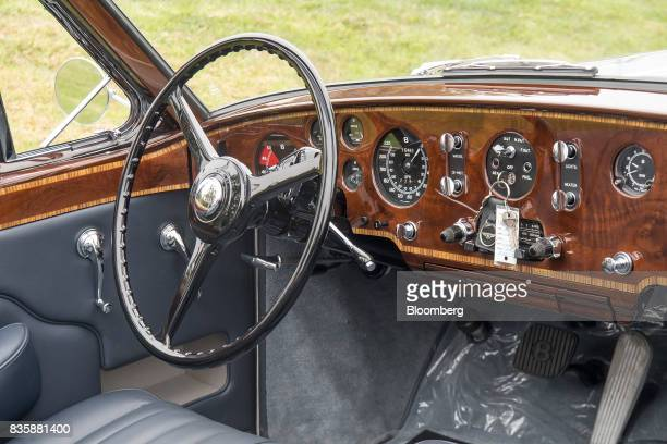 The interior of a restored 1958 Bentley S1 Continental Park Ward Drophead Coup that was found in the garage of Saddam Hussein after he was captured...