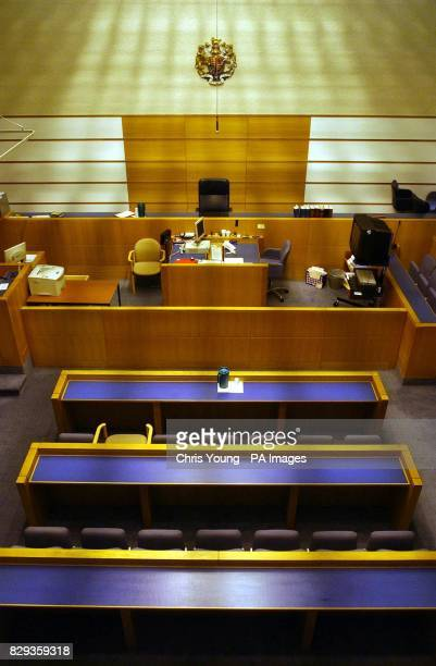 The interior of Belmarsh Magistrates Court in southeast London 19/10/04 Interior of Belmarsh Magistrates Court where radical Islamic cleric Abu Hamza...