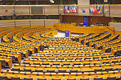 The Brussels European Parliament hemicycle is debating chamber, where member of Parliament hold discussions, elections and other meetings