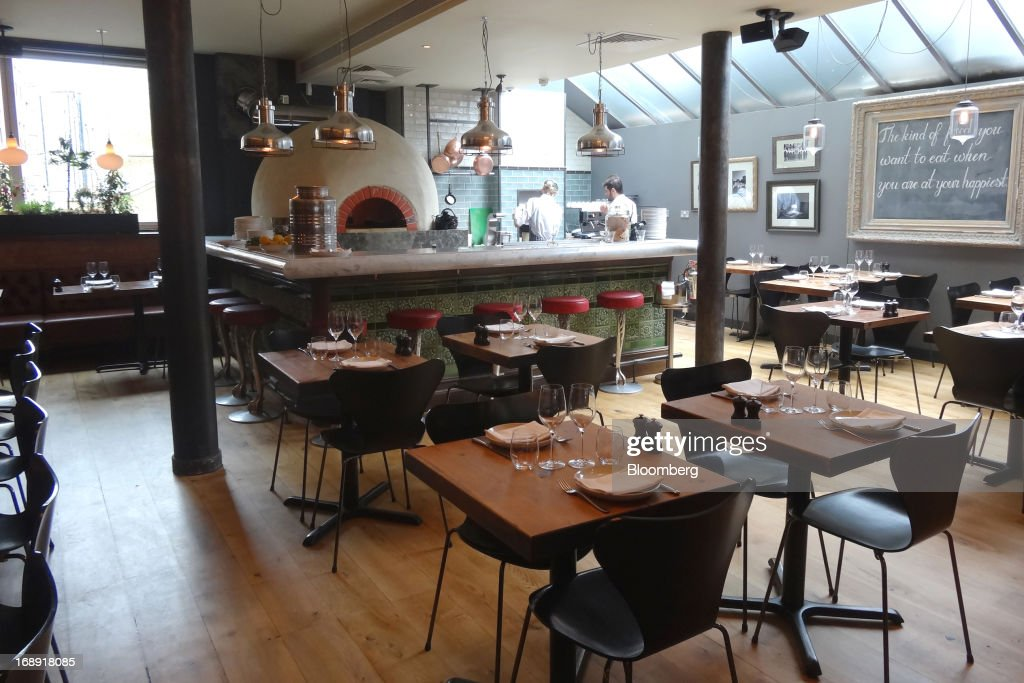 The interior of Fifteen restaurant recently remodeled in celebration of its tenth anniversary is seen in London UK on Wednesday May 15 2013 Chef...