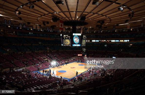 The interior of Madison Square Garden in New York on 13 February before a New York KnicksToronto Raptors basketball game AFP PHOTO/Stan HONDA