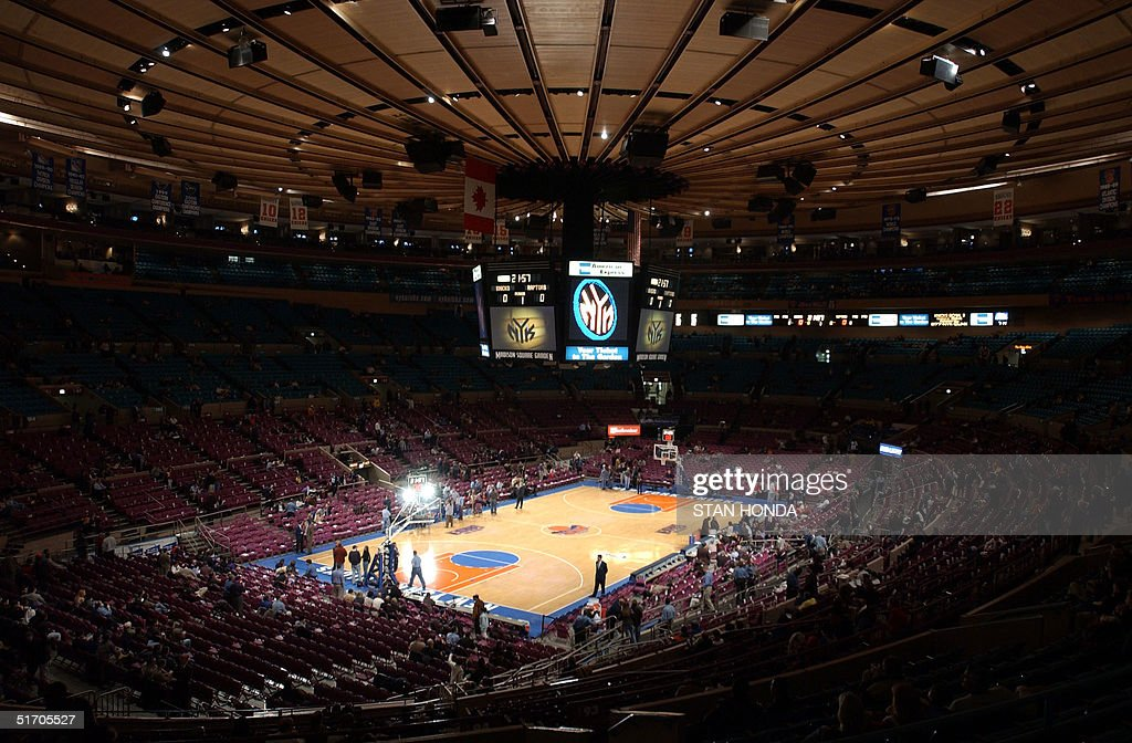 The Interior Of Madison Square Garden In New York