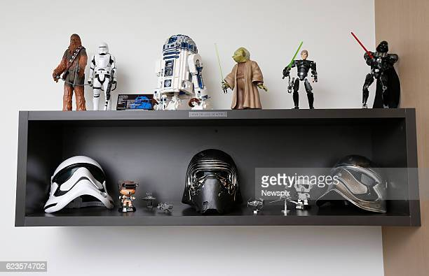 MELBOURNE VIC The interior of Marini Tungka's 'Star Wars' themed AirBNB apartment in Melbourne Victoria The apartment is full of memorabilia posters...