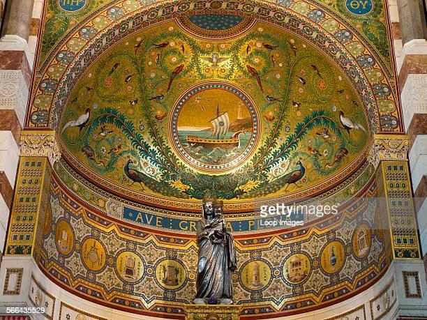 The interior of NotreDame de la Garde above Marseilles