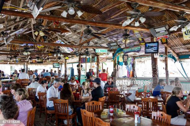 The interior of Original Tiki Bar Restaurant