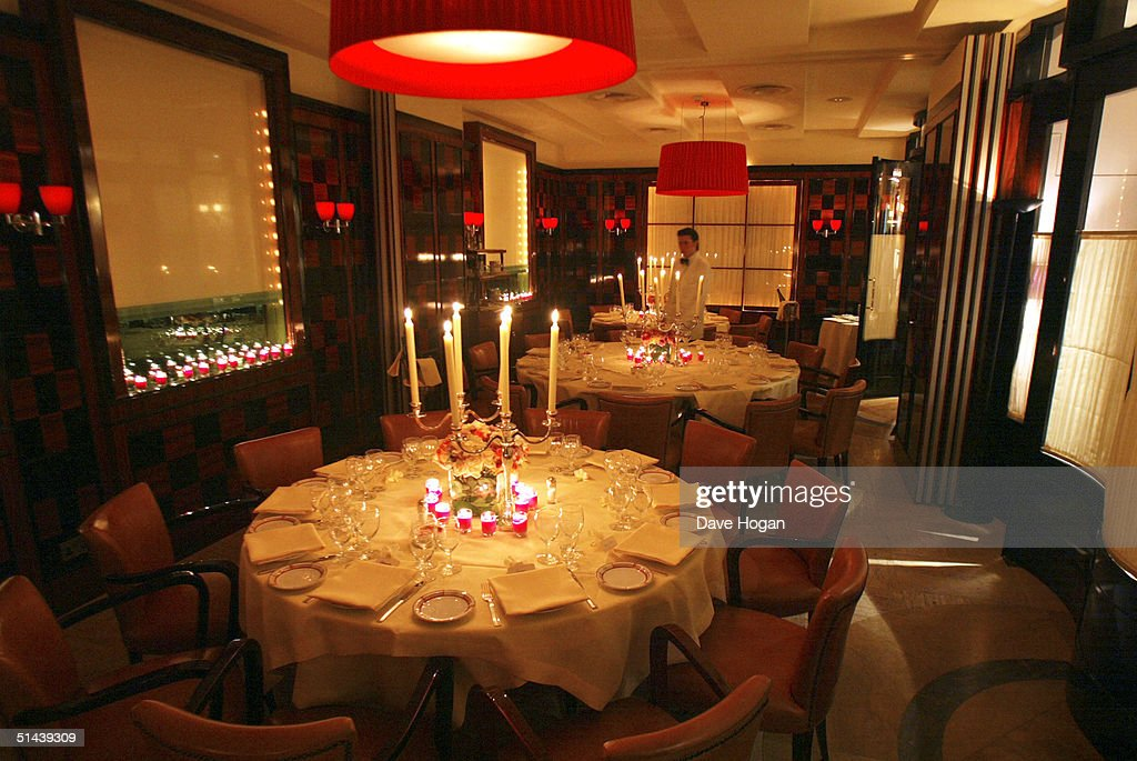The interior of restaurant Cipriani Davies Street prior to a dinner hosted by Donatella Versace on October 7 2004 in London