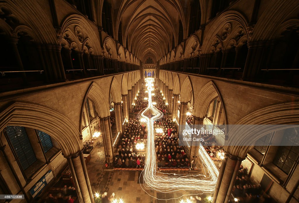 Salisbury cathedral s advent procession by candlelight getty images