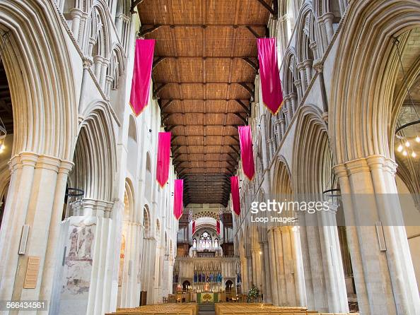 The interior of St Albans Cathedral