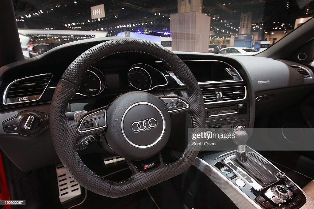 The interior of the Audi RS5 is sen during the media preview at the Chicago Auto Show on February 7, 2013 in Chicago, Illinois. The Chicago Auto Show, one of the oldest and largest in the country, will be open to the public February 9-18.
