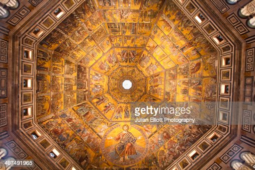 The interior of the Baptistery in Florence, Italy.