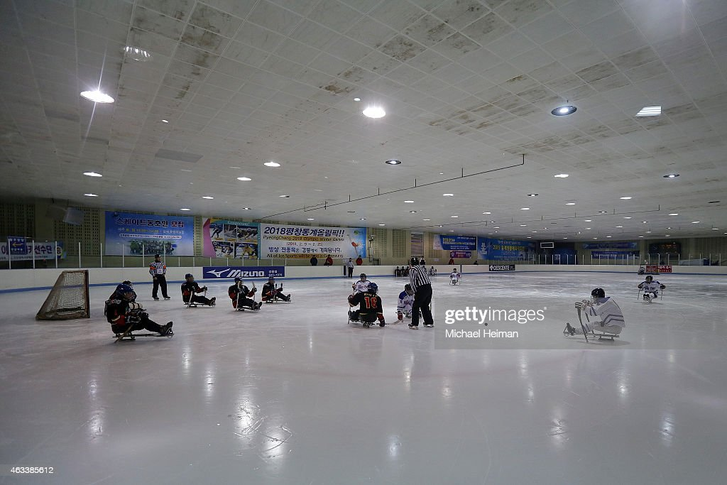 The interior of the Gangneung Curling Centre is seen in the Gangneung Sports Complex on February 11 2015 located in the coastal cluster of...