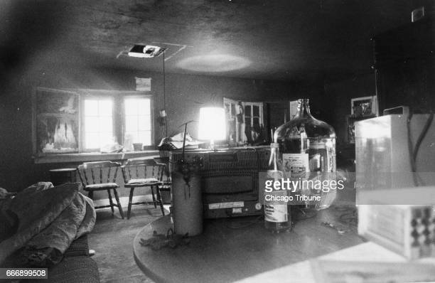 The interior of the house at the back of the property where Kurt Rouse lived is seen on June 9 1980 The building is located about 100 yards from the...