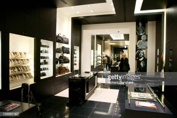 The interior of the Montblanc store in Hamburg Germany circa 2007
