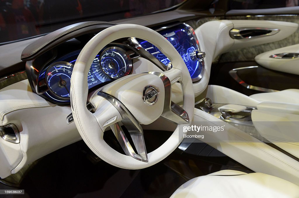The interior of the Nissa Motor Co. Resonance concept sports utility vehicle (SUV) is seen during the unveiling at the 2013 North American International Auto Show (NAIAS) in Detroit, Michigan, U.S., on Tuesday, Jan. 15, 2013. The Detroit auto show runs through Jan. 27 and will display over 500 vehicles, representing the most innovative designs in the world. Photographer: David Paul Morris/Bloomberg via Getty Images