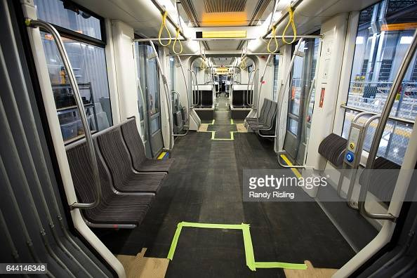 The interior of the pilot vehicle for the Eglinton Crosstown The vehicle is at the centre of legal dispute between the company and Metrolinx...