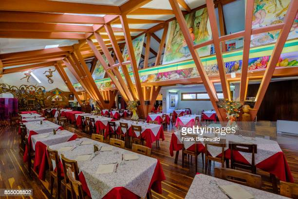 The interior of the restaurant inside the Pinocchio Park