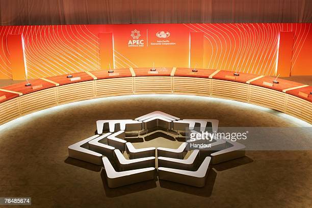 The interior of The Studio at the Sydney Opera House is seen during the Australia 2007 AsiaPacific Economic Cooperation forum on September 1 2007 in...