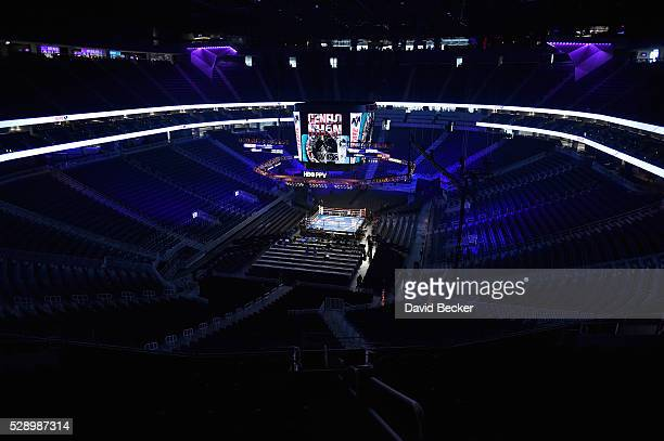 The interior of the TMobile Arena is seen before the start of the WBC middleweight title fight featuring Canelo Alvarez and Amir Khan at TMobile...