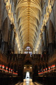 The interior of Westminster Abbey is pictured in central London on November 23 2010 Britain's Prince William and Kate Middleton are to marry on April...