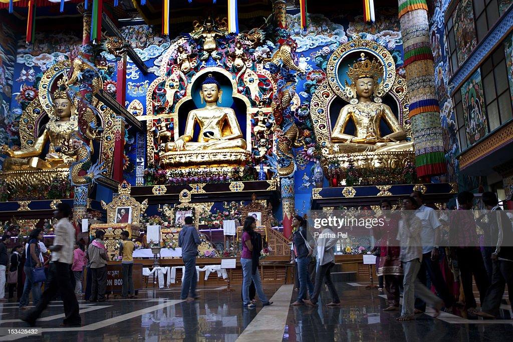 The interiors of Namdroling Tibetan Monastery : Stock Photo