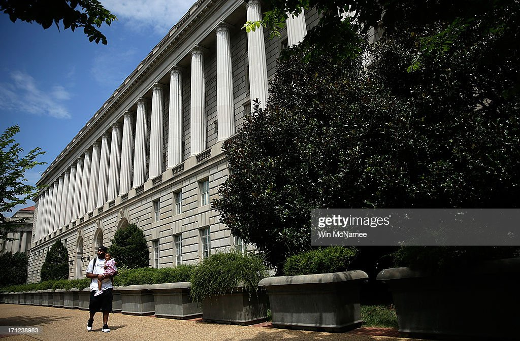 The Internal Revenue Service Building is shown July 22, 2013 in Washington, DC. Due to current shortfalls in the federal budget, all Internal Revenue Service operations are closed today, with another furlough day scheduled for next month.