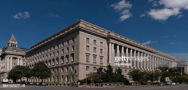 The Internal Revenue Service Building located in the center of the Federal Triangle complex in Washington DC
