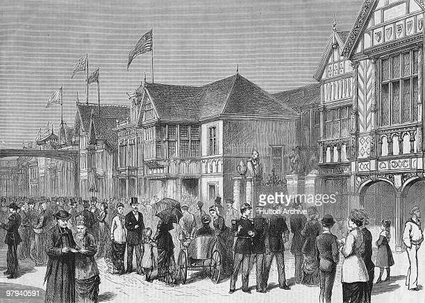 The International Avenue at the Paris World's Fair 1878 Original Publication The Graphic pub 18th May 1878