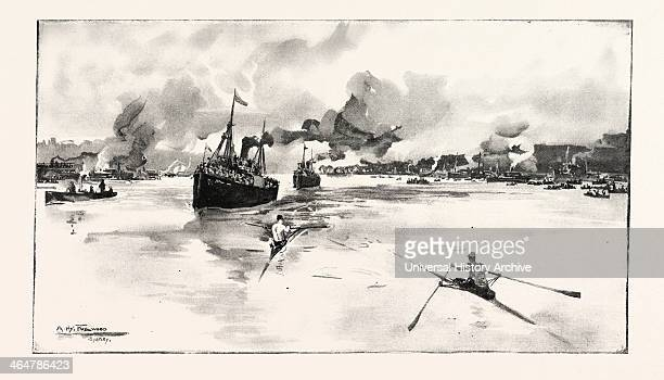 The International Boat Race For £1000 Between Canada And New South Wales Rowed On The Parramatta River Australia 1890 Engraving