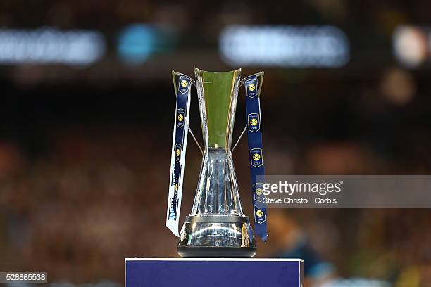 The International Champions Cup trophy for the Real Madrid and Manchester City match at the MCG on Friday 24th of July 2015 Melbourne Australia