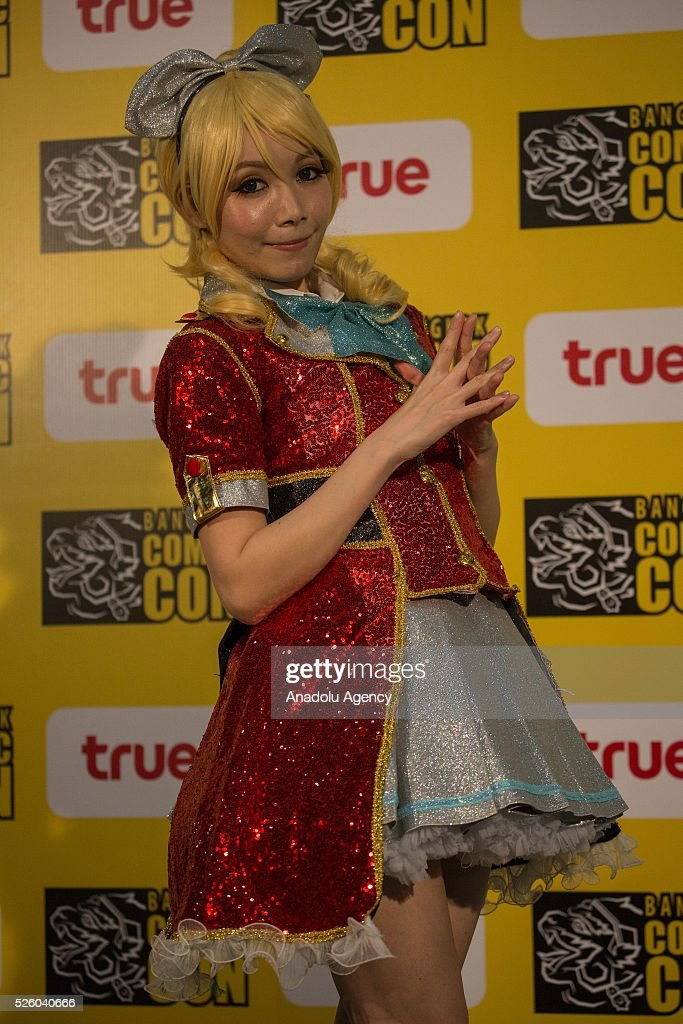 The International cosplayer 'Olivie' from Hong Kong poses for a photo shooting during the Bangkok Comic Con 2016 Festival at Bitec Exhibition Centre in Bangkok, Thailand on April 29, 2016. 'Cosplay' imitates characters from comics, video games, anime series and science fiction movies, mostly coming from the Japanese pop culture. Bangkok Comic Con is one of the biggest Pop Culture exhibition in Asia starts from 29 April until 1 May 2016. The event hopes to turn Thailand into a major center for international filmmakers and animators come to create their masterpieces. Comic Con is an internationally renowned event in the world of animation as it started in 1970 in San Diego.