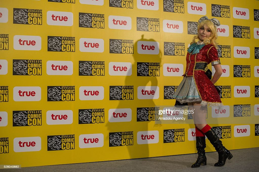 The International cosplayer 'Olivie' from Hong Kong poses for photo shooting during the Bangkok Comic Con 2016 Festival at Bitec Exhibition Centre in Bangkok, Thailand on April 29, 2016. 'Cosplay' imitates characters from comics, video games, anime series and science fiction movies, mostly coming from the Japanese pop culture. Bangkok Comic Con is one of the biggest Pop Culture exhibition in Asia starts from 29 April until 1 May 2016. The event hopes to turn Thailand into a major center for international filmmakers and animators come to create their masterpieces. Comic Con is an internationally renowned event in the world of animation as it started in 1970 in San Diego.